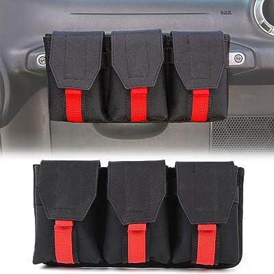 Auto Co-Pilot Center Console Storage Organizer, Passenger Seat Grab Handle Storage Bag Phone Holder for Jeep Wrangler CJ YJ TJ LJ JK JKU JL JLU JT 2 Door & 4 Door: Automotive