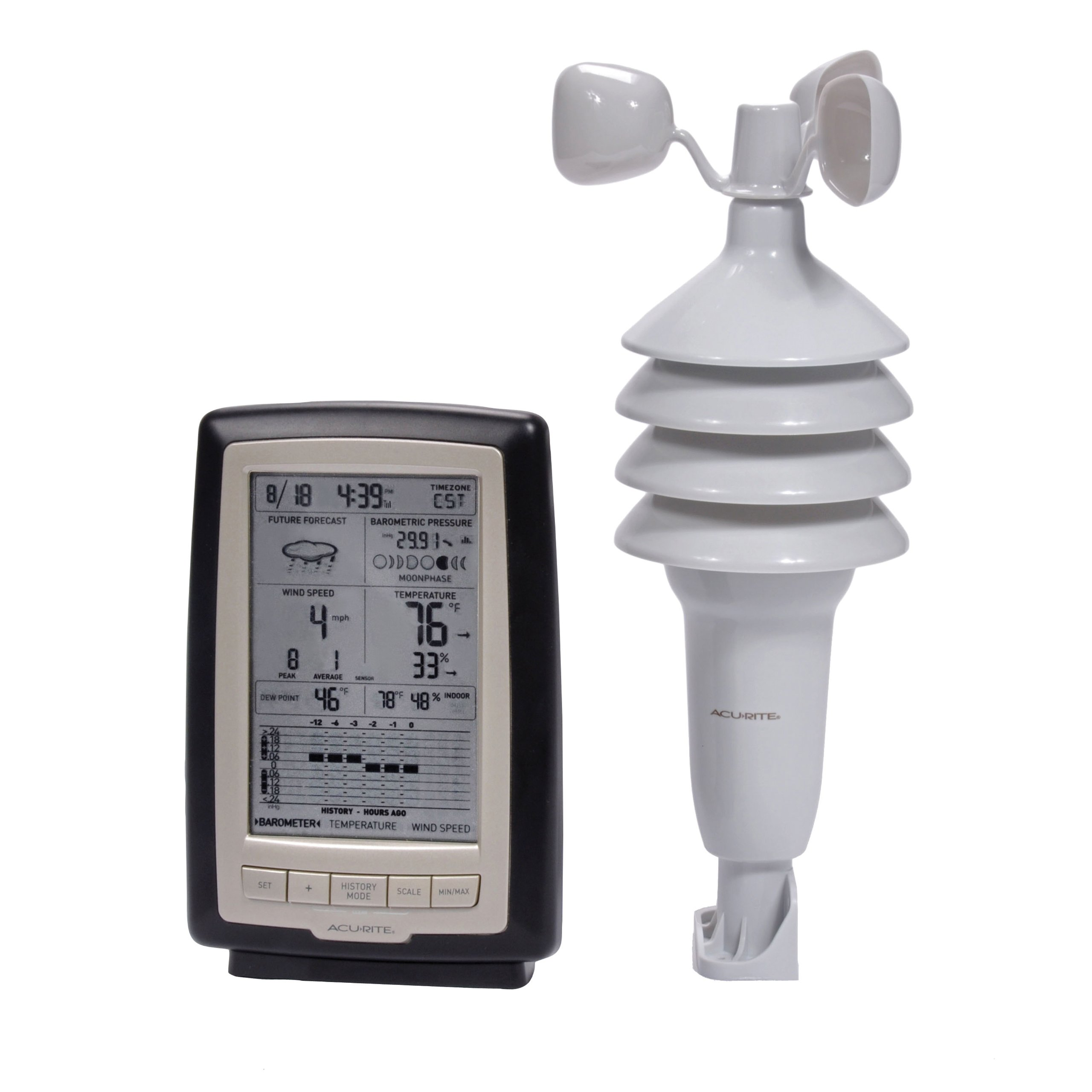 AcuRite 00638A2 Wireless Weather Station with Wind Sensor