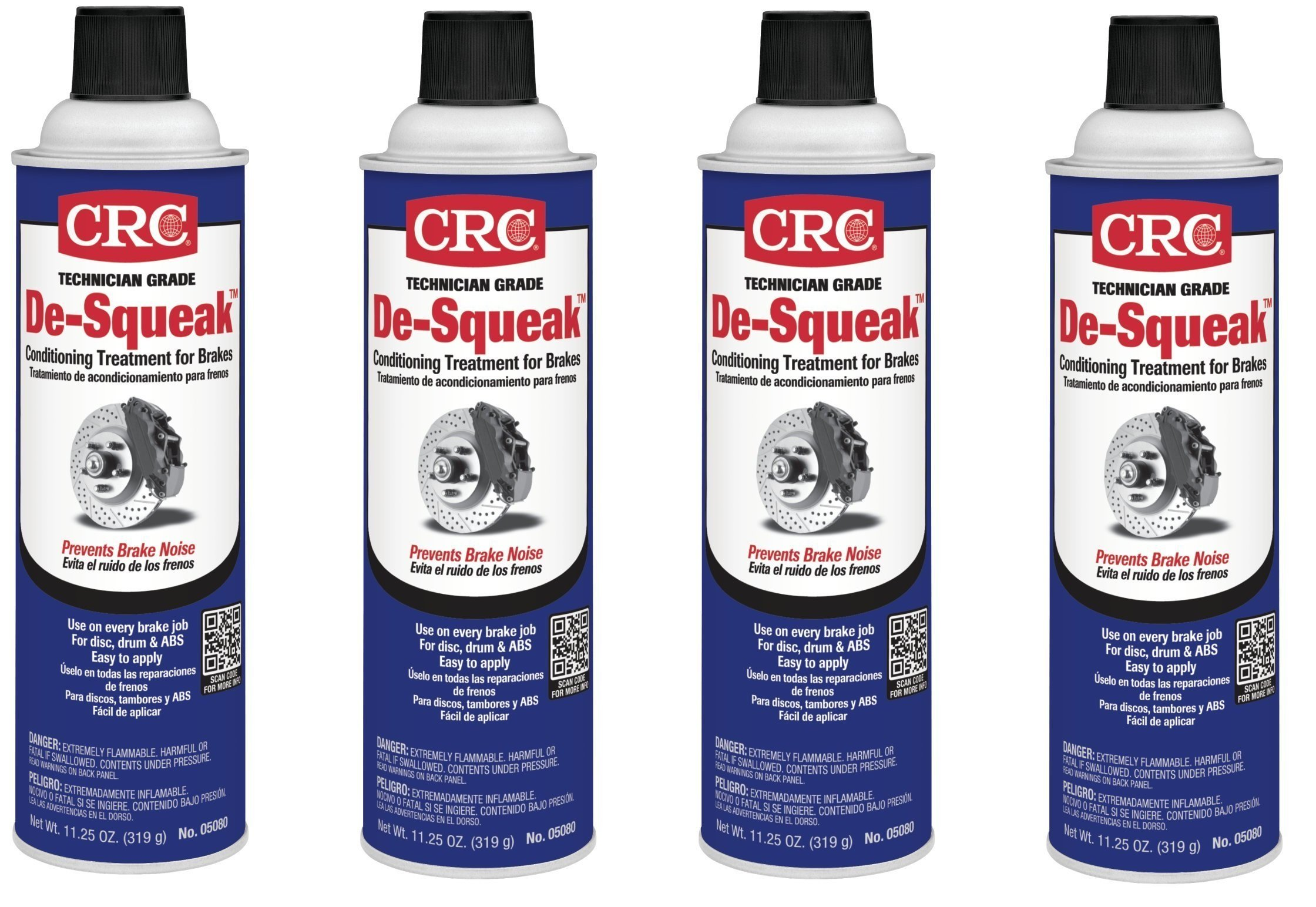 CRC 05080 De-Squeak Brake Conditioning Treatment - 11.25 Wt Oz (4)