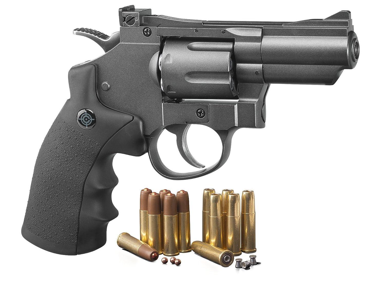 Crosman SNR357 .177 Pellet/4.5 mm BB CO2-Powered Revolver