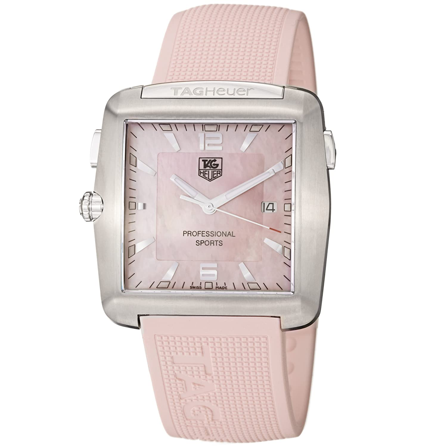 TAG Heuer Women s WAE1114.FT6011 Tiger Woods Professional Rubber Sports Watch