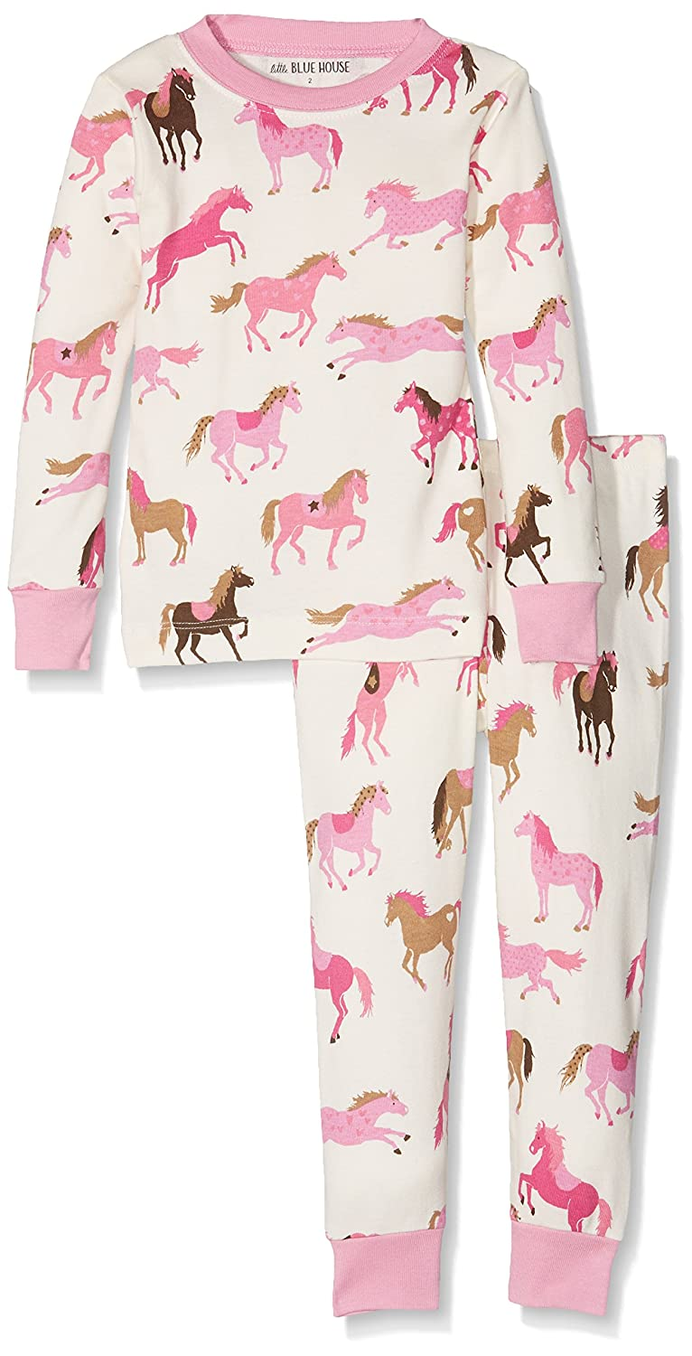 Hatley Lbh Girl's Pj Set - Heart & Horses (Aop), Pigiama Bambina Little Blue House by Hatley PJAFAHO184