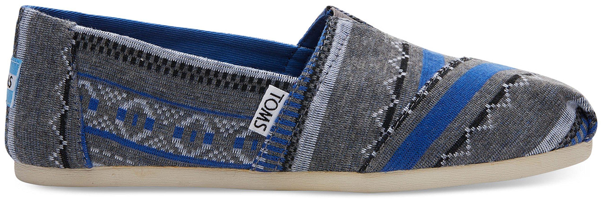 Toms Women's Alpargata Novelty Textile Espadrille, Size: 6.5 B(M) US, Color: Nauticle Blue Tribal Jrsy