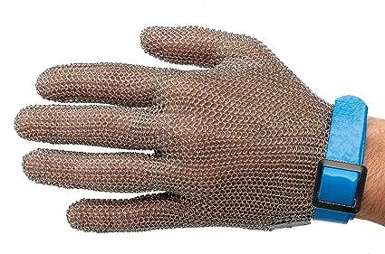 Manulatex Ogcm.130.40.000.00 - Guante malla inoxidable profesional, talla L, color azul
