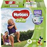 Huggies Little Movers Slip-On Diapers, Size 4, 56 Count