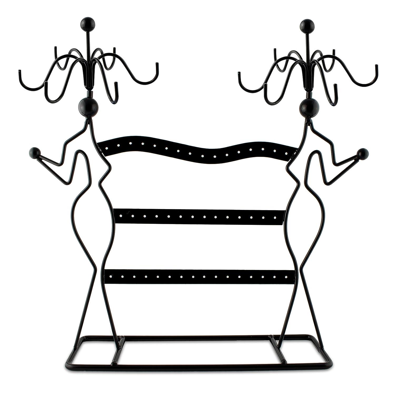 Portagioie design Profili di donna - Nero 35 x 34 x 8 cm - Organizer per raccogliere e presentare bijoux - Grinscard