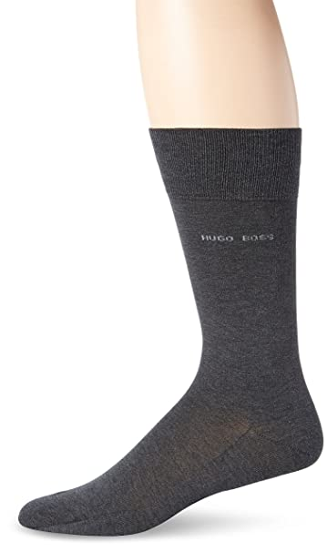 02a52b3f12f Amazon.com: HUGO BOSS Men's Paul Solid Mercerized Crew Sock, Grey, 7-13/Shoe  Size 6-12: Clothing