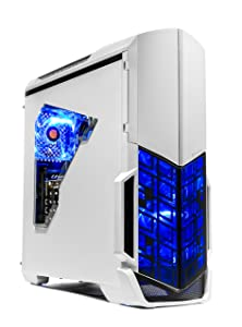 SkyTech Archangel VR Ready Gaming Computer Desktop PC - Ryzen 2600, AMD RX 580 4GB, 8GB DDR4, 500G SSD, Wi-Fi, DVD ROM, Windows 10 Home 64-bit