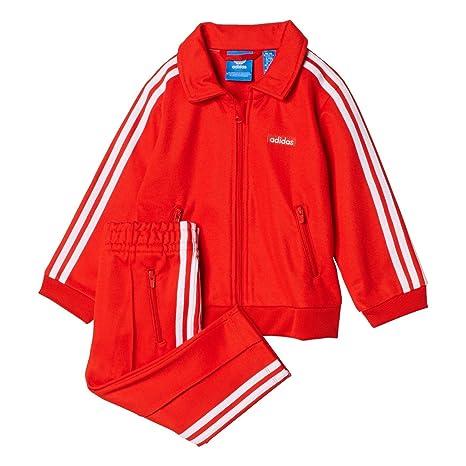 watch 5da86 65b15 adidas I Beckenbauer, Tuta da Ginnastica Bambino, Rosso (Rojbas Bianco),