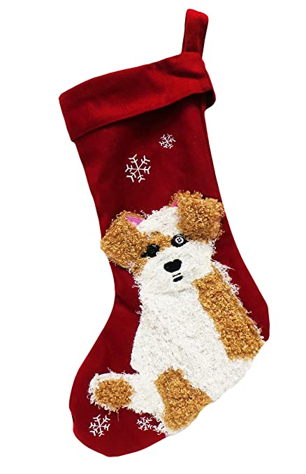Dog Christmas Stocking.Airadyne Limited Edition Fluffy Dog Christmas Stocking W Satin Lining