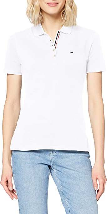 Tommy Hilfiger Polo Shirt Original Flag with Short Sleeves, Blanco ...