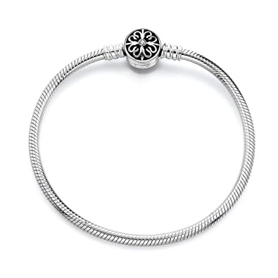 ae136877b Long Way 925 Sterling Silver Snake Chain Bracelet Basic Charm Bracelets for  Teen Girls Women,