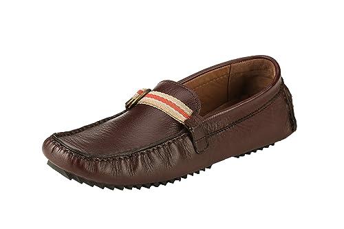 0d44f83922 Ronaldo Men's Brown Leather Loafers ( ZARA-01_BROWN_10 ) - 10: Buy ...