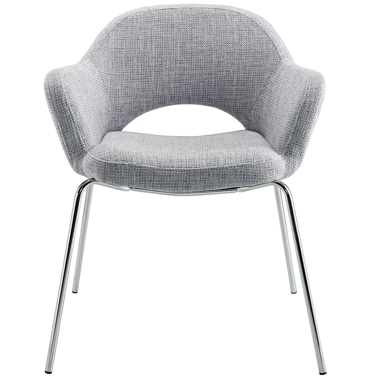 Amazon.com - Modway EEI-623-LGR Cordelia Dining Armchair in Light Gray - Chairs  sc 1 st  Amazon.com & Amazon.com - Modway EEI-623-LGR Cordelia Dining Armchair in Light ...