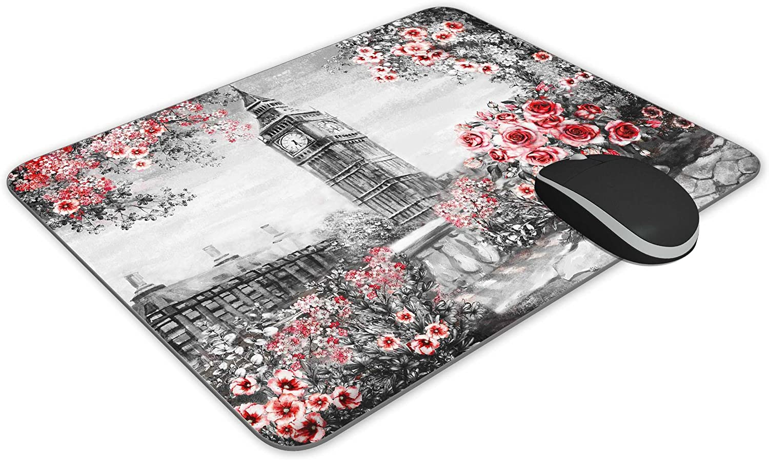 KingKang Oil Painting Summer in London Mouse Pad Office Mouse Pad Gaming Mouse Pad