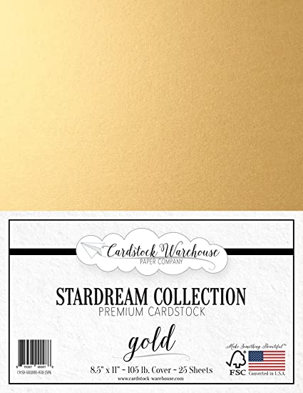 25 Sheets from Cardstock Warehouse 105 lb // 284 GSM Cover 8.5 X 11 inch Silver Stardream Metallic Cardstock Paper