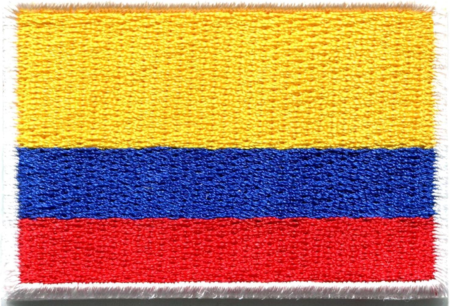 Bandera de Colombia colombiano América del Sur bordado Applique parche para planchar (nuevo tamaño mediano: Amazon.es: Juguetes y juegos