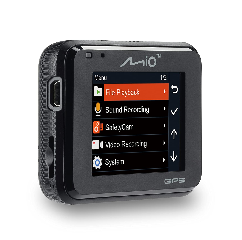 0.64 kilograms 2 megapixels Color Negro C/ámara para salpicadero C/ámara LCD GPS de salpicadero Coche Mio MiVue 618/Full HD 1080p 2,7 grabadora de Accidentes