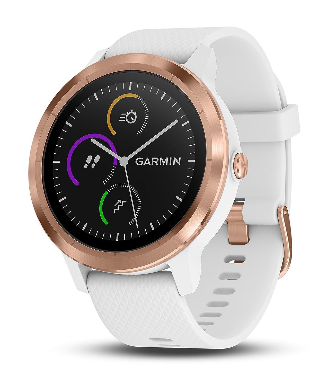 2d9e00345 Amazon.com: Garmin vivoactive 3 (Rose Gold) Gift Box Bundle | Includes HD  Screen Protector (x2), PlayBetter USB Wall & Car Charging Adapters, ...