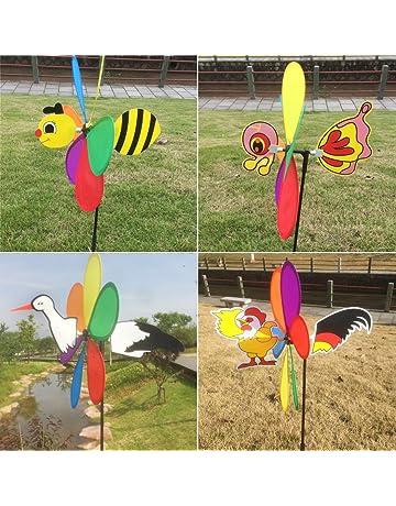 ecmqs nueva venta 3d Gros Animal molino de viento de las abejas Spinner de viento peonza