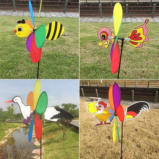 ecmqs nueva venta 3d Gros Animal molino de viento de las abejas Spinner de viento peonza jardín Décor – Molinillo de viento niño velo: Amazon.es: Hogar