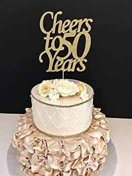 Funlaugh Any Number Cheers To 50 Years Cheer 50Th Birthday Cake