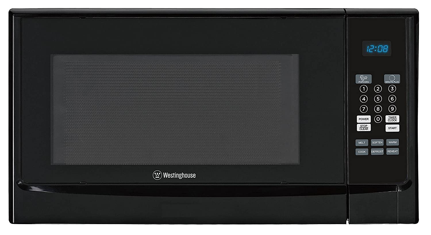 Westinghouse WCM14110B 1100 Watt Counter Top Microwave Oven, 1.4 Cubic Feet, Black Cabinet