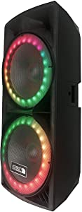 "Edison Professional Dual 15"" Party Speaker System with 6000 Watts - M7000"