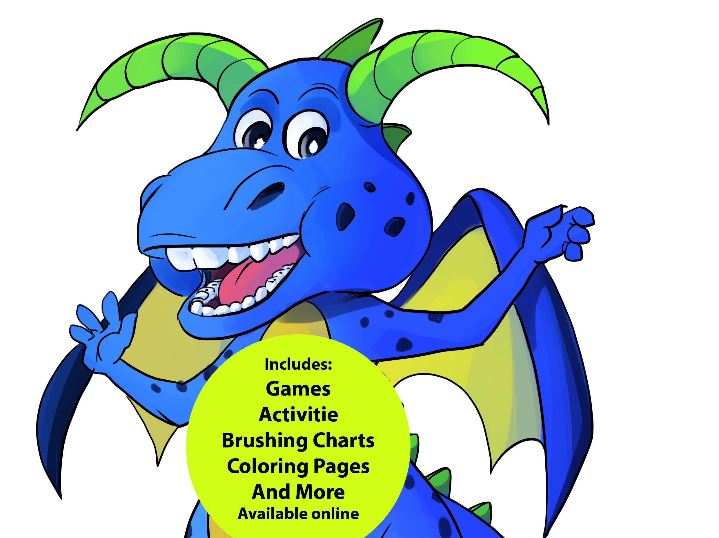 Oral Health Presentation Puppet Magi Dragon Educational Plush by StarSmilez (Image #3)