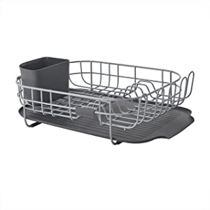 KitchenAid Low Profile Carbon Steel Dishrack, one size, Charcoal Gray