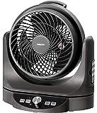 山善 扇風機 23cm サーキュレーター マイコンスイッチ 風量8段階調節 静音モード DCモーター搭載 リモコン付き メタリックブラック YAR-AD23E(MB)