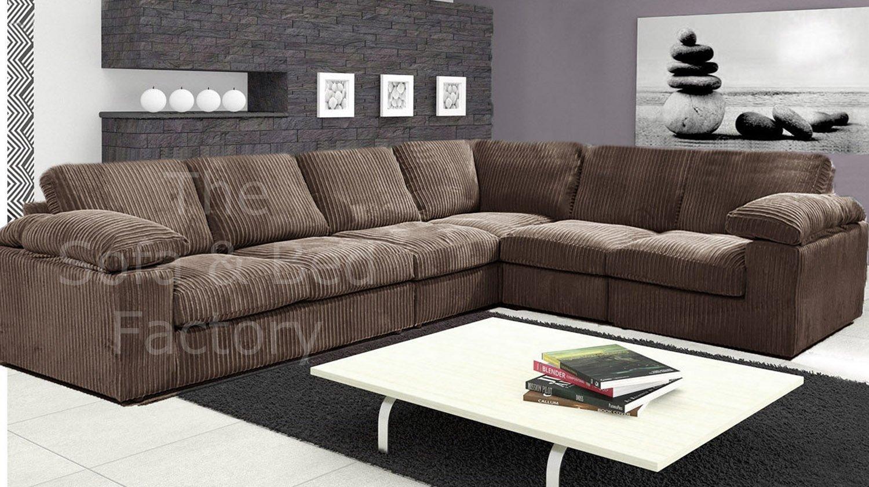 New Ruxley Large Fabric 6 Seater Corner Sofa 3 Corner 2
