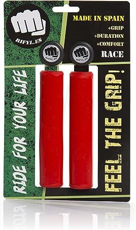 RIFYL (Race) Juego de puños para Bicicleta o Mountain Bike, Color Rojo, diámetro 30,5mm: Amazon.es: Deportes y aire libre