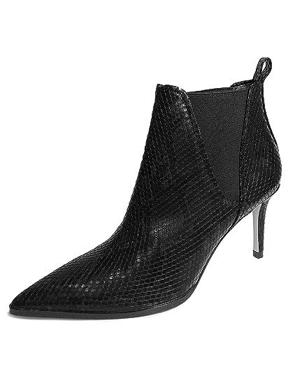 f8621fb8c Zara Women s Animal Print Heeled Ankle Boots 1100 001 Black  Amazon ...