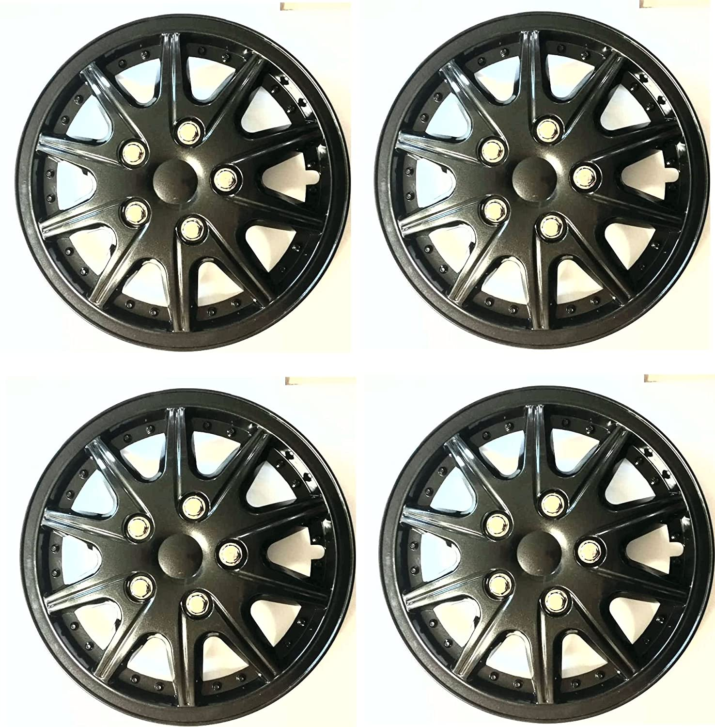 UKB4C Set of 4 Wheel Trims Hub Caps 15 Covers fits Renault Clio Megane Scenic