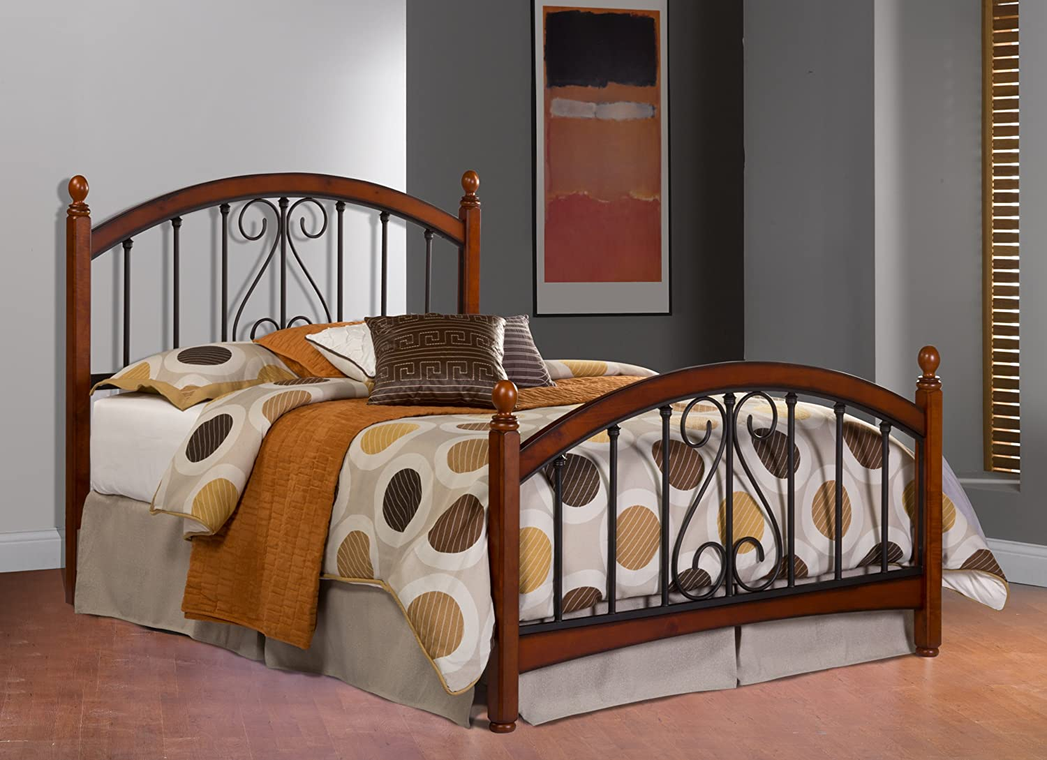 Amazon.com   Hillsdale Furniture 1258HFQ Burton Way Headboard, Full/Queen,  Cherry   Bed Frame Queen With Headboard And Footboard