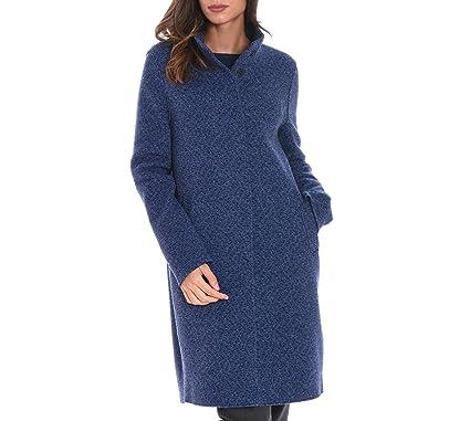 London A1012mns364 Harris Manteau Femme Laine Wharf Bleu f88xFw51q