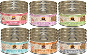 Weruva Classic Stews 6 Flavors Variety Pack, 5.5 Ounce Cans Pack of 24