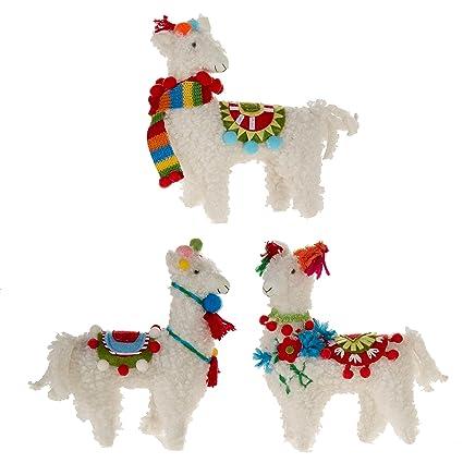 "SET OF 3 Raz 7"" Colorful Llama Christmas Ornament 3819042 - Amazon.com: SET OF 3 Raz 7"
