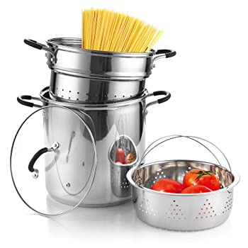 Cook N Home Steamer Insert Pasta Pot""
