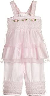 product image for Laura Dare Baby Girls Solid Colors Bo Peep Style PJ Set w Scrunchie, (6-24m)