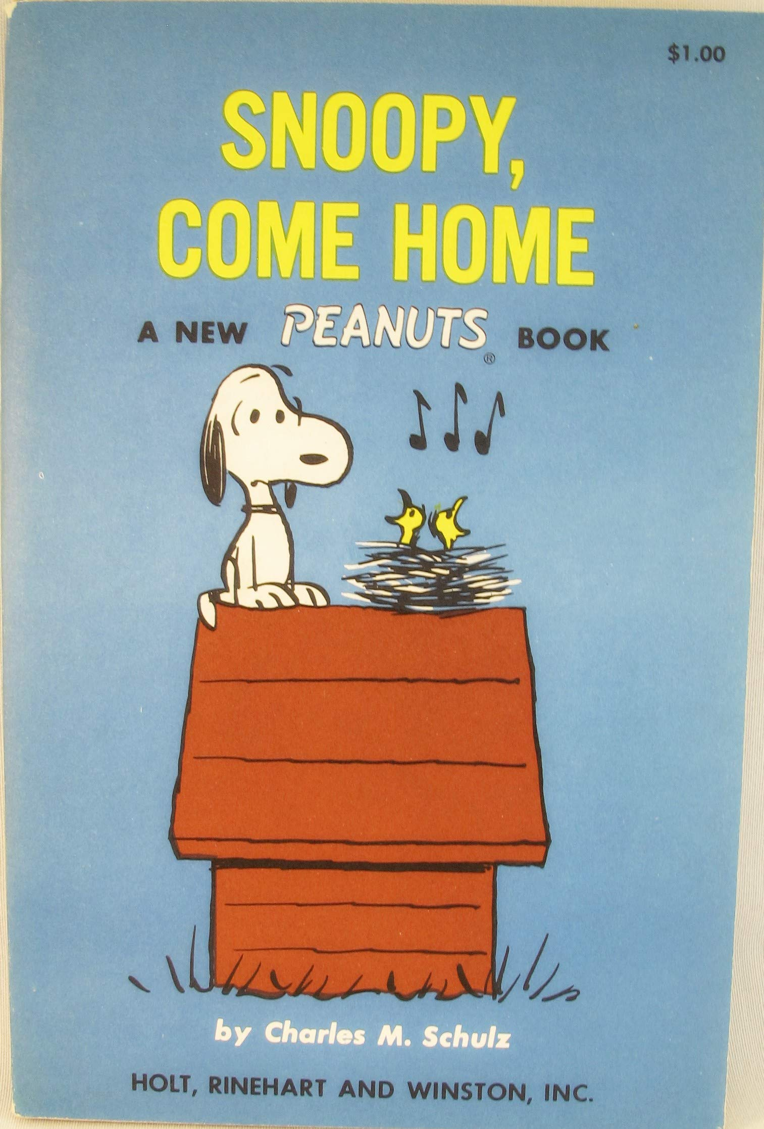 The Snoopy Come Home Movie Book Charles M Schulz 9780030311604
