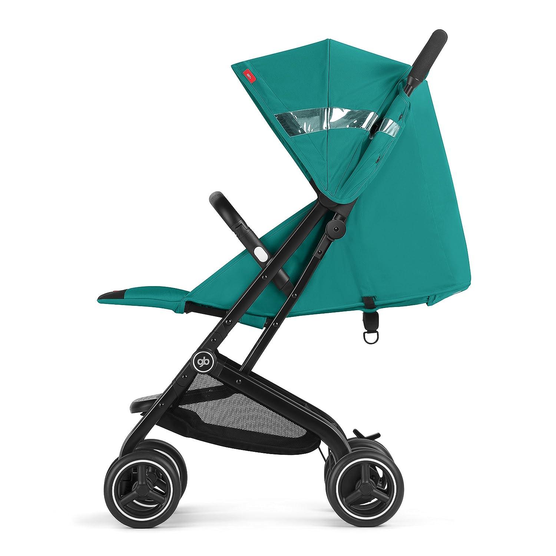 gb Gold - Silla de paseo Qbit+, viaje de lujo, Travel System 3 en 1, desde el nacimiento hasta los 17 kg (4 años aprox.), Laguna Blue