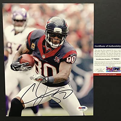Autographed Signed Andre Johnson Houston Texans 8x10 Football Photo PSA DNA  COA Auto 42355f63f