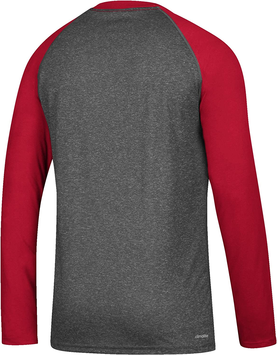 Large Dark Gray Heather NCAA Louisville Cardinals Mens Color Splat Ultimate L//S Raglan Teecolor Splat Ultimate L//S Raglan Tee