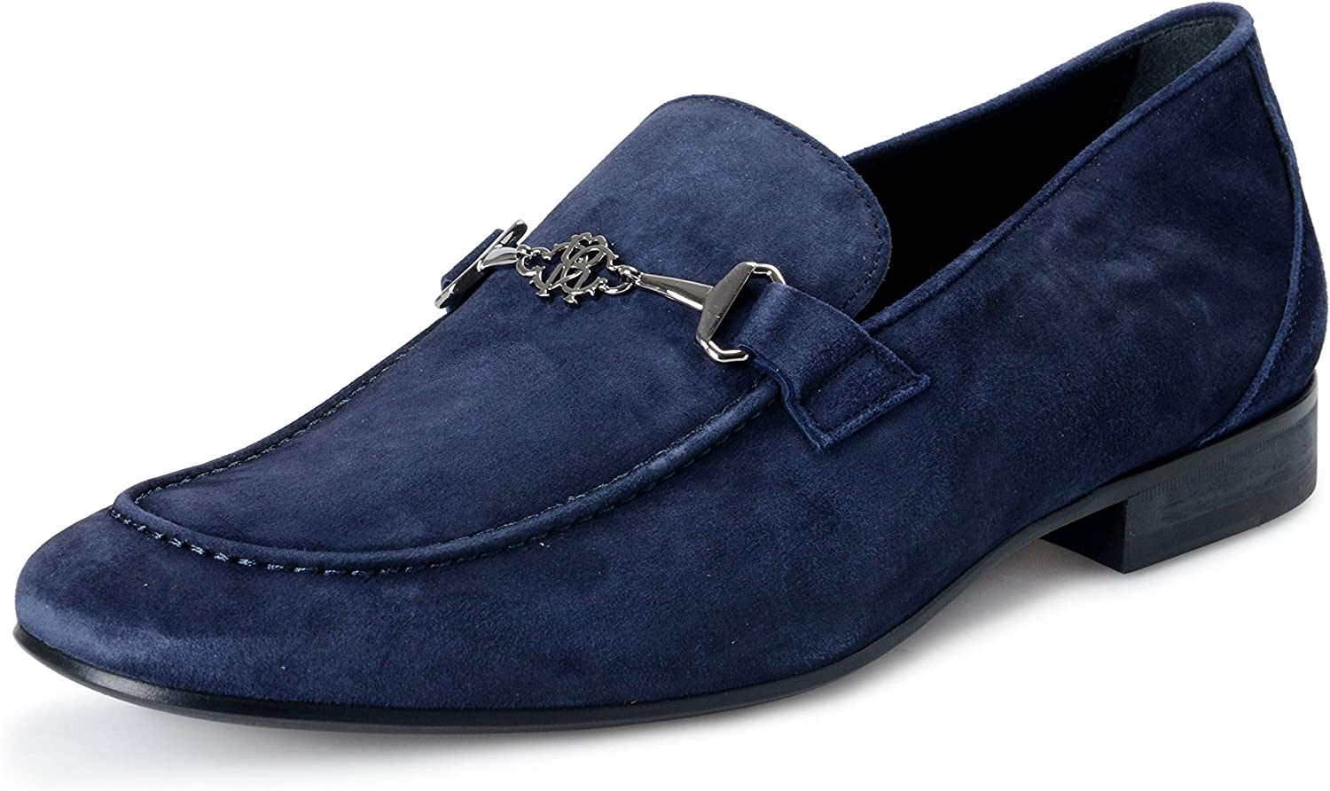 Blue Suede Leather Loafers Slip