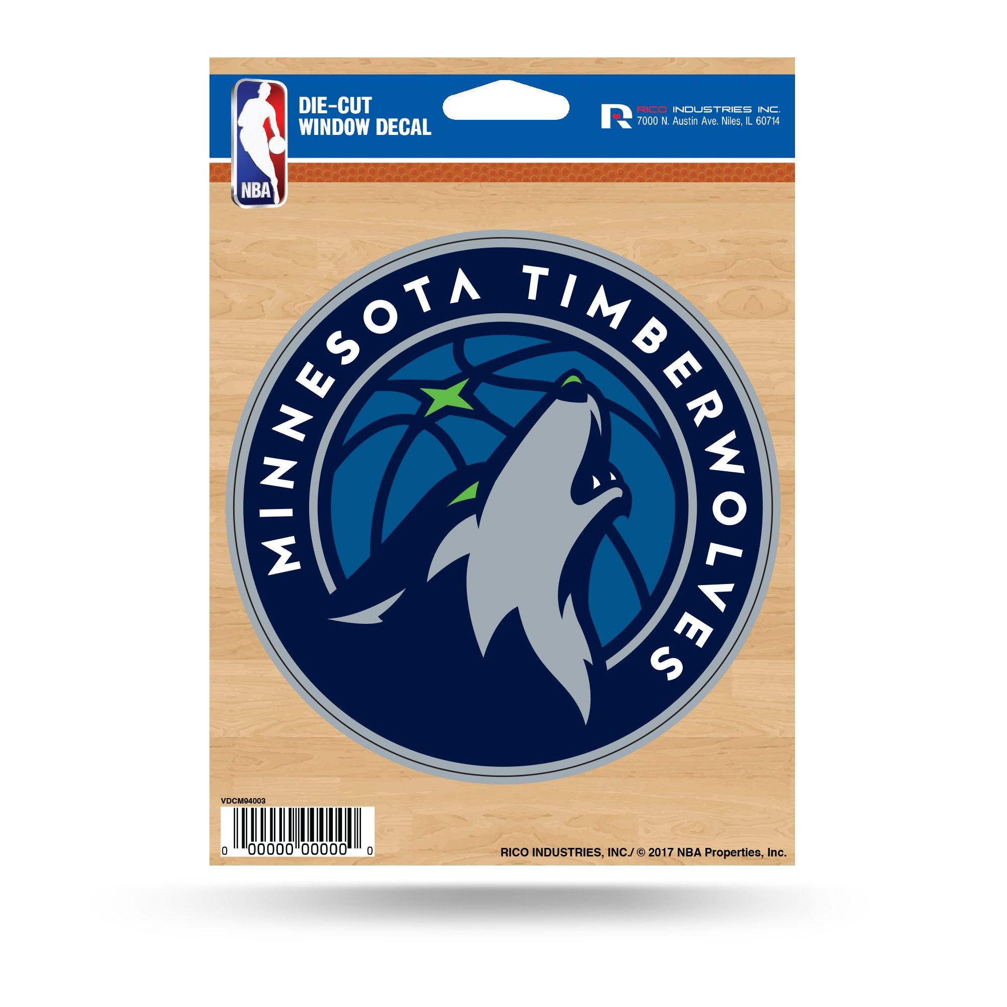 Rico NBA Minnesota Timberwolves Die Cut Vinyl Decal