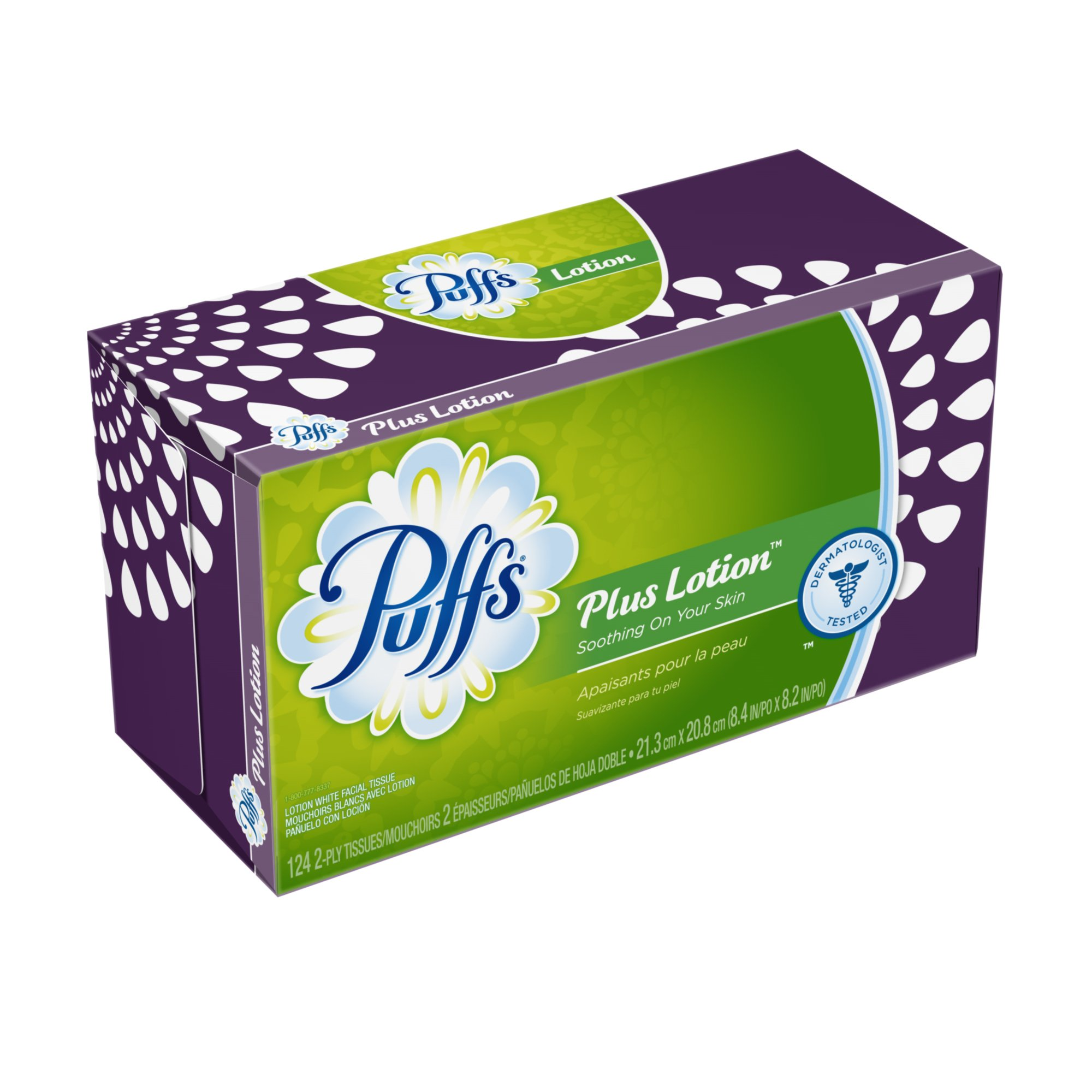 Puffs Plus Lotion Facial Tissues;124 Tissues Per Box (Pack of 24) (