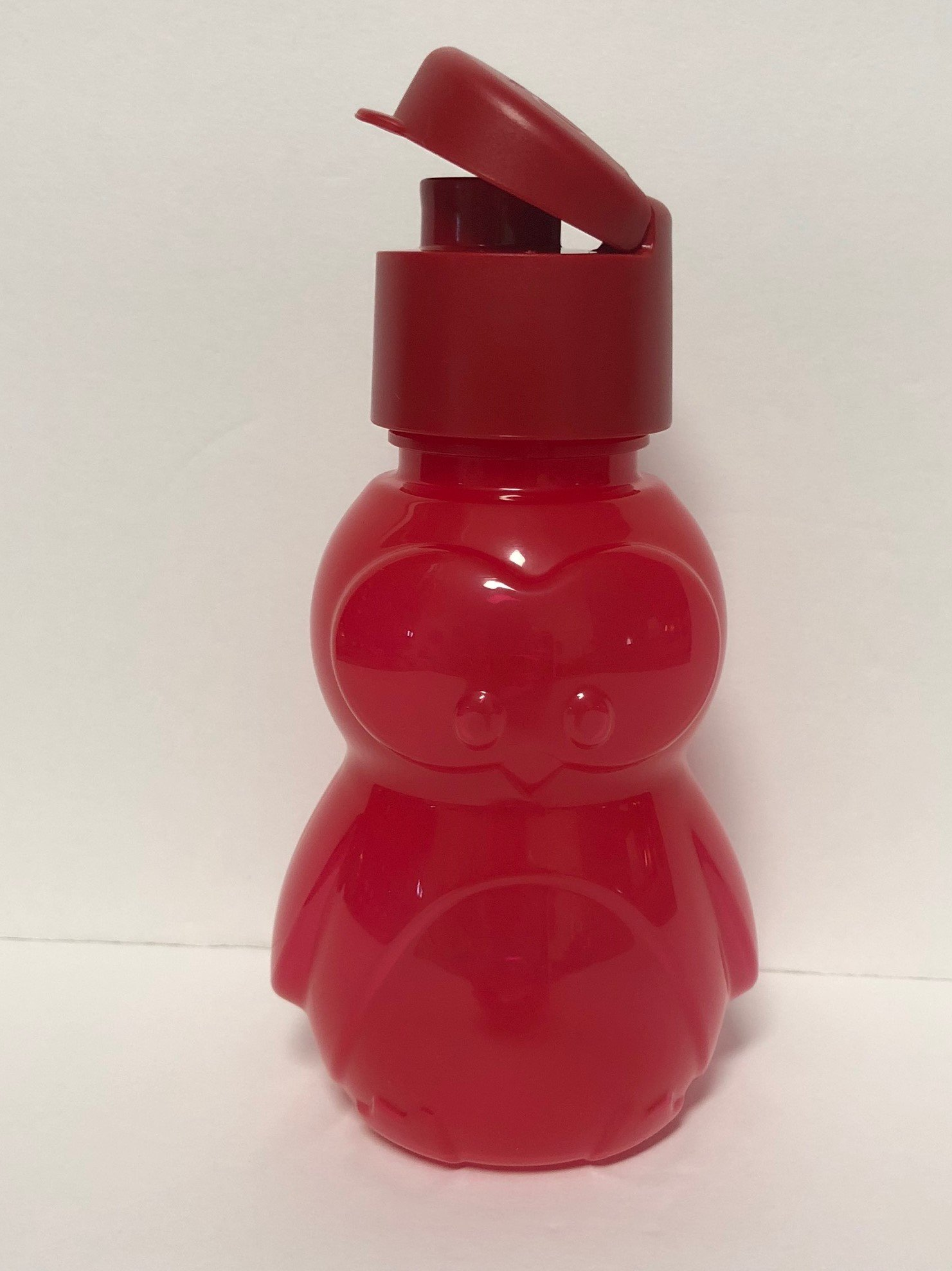 Tupperware ECO Animal Water Sports Bottle 12 Oz for Kids - Red