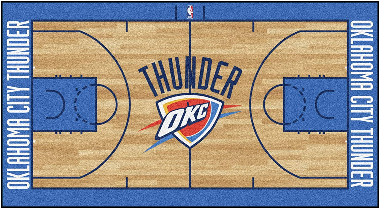 FANMATS - 9410 NBA Oklahoma City Thunder Nylon Face NBA Court Runner-Large 29.5x54